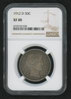 1912-D 50¢ Barber Half-Dollar (PCGS XF 40) at PristineAuction.com