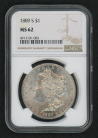 1889-S $1 Morgan Silver Dollar (NGC MS 62) at PristineAuction.com