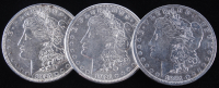 Lot of (3) Morgan Silver Dollars with 1881-O, 1921, & 1921-S at PristineAuction.com