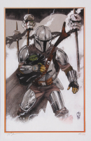 "Tom Hodges Signed LE ""Star Wars"" - ""The Mandalorian & The Child"" 11"" x 17"" Lithograph (PA COA) at PristineAuction.com"