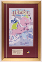 "Walt Disney's ""Disneyland"" 17x26 Custom Framed Print Display with Ticket & Dumbo Ride Pin at PristineAuction.com"