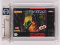 "1992 ""Flashback: The Quest For Identity"" Super Nintendo Video Game (Wata Certified 8.5) at PristineAuction.com"