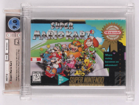 "1992 ""Super Mario Kart"" Super Nintendo Video Game (Wata Certified 9.0) at PristineAuction.com"