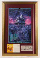 "Walt Disney's Disneyland Paris ""Phantom Manor"" 17x26 Custom Framed Print Display with Postcard Booklet & Ticket at PristineAuction.com"