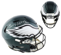 """Carson Wentz Signed Eagles Full-Size Authentic On-Field SpeedFlex Helmet Inscribed """"A01"""" (Fanatics Hologram) at PristineAuction.com"""