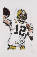 Aaron Rodgers - Packers - Josuah Barton 12x18 Signed Limited Edition Lithograph #/250 (PA COA) at PristineAuction.com