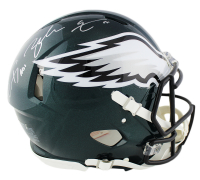 "Carson Wentz & Zack Ertz Signed Eagles Full-Size Authentic On-Field Speed Helmet Inscribed ""A01"" (Fanatics Hologram) at PristineAuction.com"