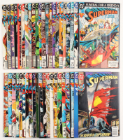 """Lot of (43) """"Superman"""" 2nd Series Action Comics DC Comic Books at PristineAuction.com"""