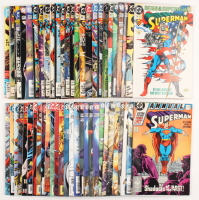 "Lot of (53) ""Superman"" 2nd Series Action Comics DC Comic Books at PristineAuction.com"