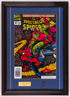 """The Spectacular Spider-Man"" 18x25 Custom Framed Print Display with Vintage Spider-Man Pin at PristineAuction.com"