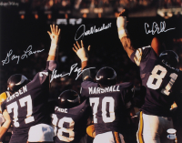 "Minnesota Vikings ""Purple People Eaters"" 16x20 Photo Signed by (4) with Carl Eller, Jim Marshall, Alan Page & Gary Larsen (TSE COA & Beckett Hologram) at PristineAuction.com"