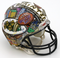 Charles Fazzino Signed Saints Hand-Painted Mini Helmet (PA LOA) at PristineAuction.com