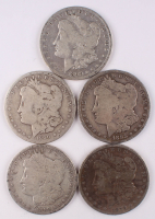 Lot of (5) Morgan Silver Dollars at PristineAuction.com