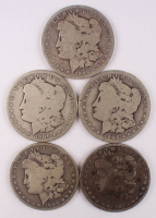 Lot of (5) Morgan Silver Dollars at PristineAuction.com