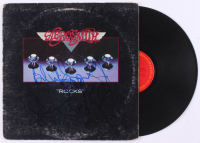 "Aerosmith ""Rocks"" Vinyl Record Cover Band Signed by (5) with Steven Tyler, Tom Hamilton, Joey Kramer, Joe Perry, & Brad Whitford (JSA LOA) at PristineAuction.com"