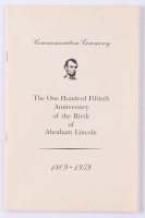"""Vintage 1959 Abraham Lincoln """"150th Anniversary"""" Pamphlet at PristineAuction.com"""