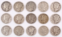 Lot of (15) 1920-1944 Mercury Silver Dimes at PristineAuction.com