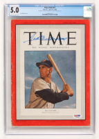 "Ted Williams Signed 1950 ""Time"" Magazine (PSA LOA & CGC Encapsulated - 5.0) at PristineAuction.com"