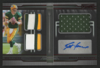 Brett Favre 2019 Panini Playbook Material Autographs Red #8 at PristineAuction.com