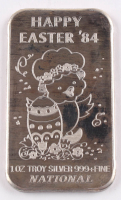"1984 1 Troy Oz .999 Fine Silver ""Happy Easter"" Bullion Bar at PristineAuction.com"
