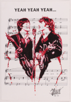 "Joe Petruccio Signed John Lennon & Paul McCartney ""Yeah Yeah Yeah"" 14x20.5 LE Giclee (PA LOA & Petruccio COA) at PristineAuction.com"