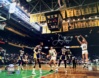 Larry Bird Signed Celtics 16x20 Photo (Beckett COA & Bird Hologram) at PristineAuction.com