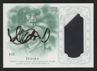 Ichiro Suzuki 2015 Topps Dynasty Autograph Patches Emerald #API2 at PristineAuction.com