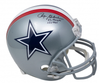 """Roger Staubach Signed Cowboys Full Size Helmet Inscribed """"22,700 yds"""" & """"153 TD's"""" (Beckett COA) at PristineAuction.com"""