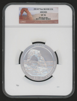 2014-P 5 oz Silver Jumbo 25¢ - Arches - Utah - America The Beautiful - ATB - Jumbo Quarter (NGC SP 70) at PristineAuction.com