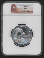 2014 5 oz Silver Jumbo 25¢ - Arches - Utah - America The Beautiful - ATB - Jumbo Quarter (NGC MS 69) at PristineAuction.com