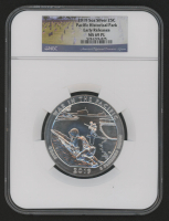 2019 5 oz Silver Jumbo 25¢ - Pacific Historical Park - Guam - America The Beautiful - ATB - Jumbo Quarter (Early Releases) (NGC MS 69 Prooflike) at PristineAuction.com