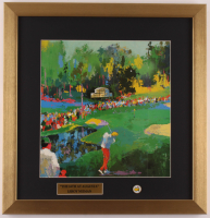 "LeRoy Neiman ""The 16th At Augusta"" 17x17.5 Custom Framed Print Display with Vintage Masters Pin at PristineAuction.com"