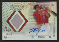 Mike Trout 2014 Bowman Platinum Platinum Cut Relic Autographs #APCMT at PristineAuction.com