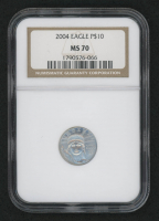 2004 $10 Platinum Eagle Statue of Liberty 1/10 oz Platinum Coin (NGC MS 70) at PristineAuction.com