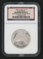 1861-O 50¢ Seated Liberty Half-Dollar - SS Republic - Original Shipwreck Coin - Shipwreck Effect - Confederate States Issue (NGC Encapsulated) at PristineAuction.com