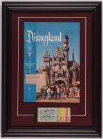 "Walt Disney's ""Disneyland"" 14.5x19.5 Custom Framed 1957 Original Souvenir Program Display with Ticket Booklet at PristineAuction.com"