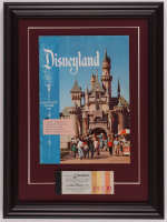 "Walt Disney's ""Disneyland"" 14.5x19.5 Custom Framed Original 1957 Souvenir Guide Display with Ticket Booklet at PristineAuction.com"