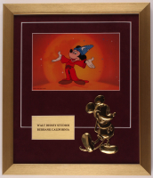 "Mickey Mouse ""The Sorcerer's Apprentice"" 15.5x18 Custom Framed Animation Cel Display with Brass Mickey at PristineAuction.com"
