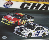 Jeff Gordon & Jimmie Johnson Signed 8x10 Photo (Beckett LOA) at PristineAuction.com