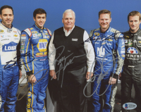 Hendrick Motorsports 8x10 Photo Team-Signed by (5) with Rick Hendrick, Jimmie Johnson, Chase Elliott, Kasey Kahne & Dale Earnhardt Jr. (Beckett LOA) at PristineAuction.com