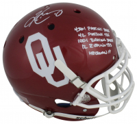 Kyler Murray Signed Oklahoma Sooners Full-Size Authentic On-Field Helmet with Multiple Career Stat Inscriptions (Beckett COA) at PristineAuction.com