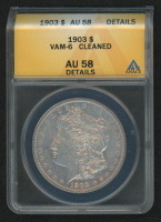 1903 Morgan Silver Dollar, VAM-6 (ANACS AU58 Details) at PristineAuction.com