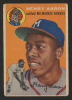 Hank Aaron 1954 Topps #128 RC at PristineAuction.com