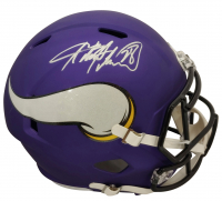 Adrian Peterson Signed Vikings Full-Size Speed Helmet (Beckett COA) at PristineAuction.com
