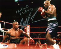Mike Tyson & Evander Holyfield Signed 8x10 Photo (PSA COA) at PristineAuction.com