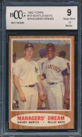 1962 Topps #18 Managers Dream / Mickey Mantle / Willie Mays (BCCG 9) at PristineAuction.com