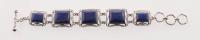 """Sterling Silver 8"""" Lapis Adjustable Toggle Bracelet at PristineAuction.com"""