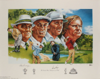 """Gene Sarazen & Gary Player Signed """"The Grand Slam Champions of Golf"""" 22x29 Lithograph (Beckett LOA) at PristineAuction.com"""
