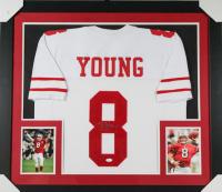 Steve Young Signed 31x35 Custom Framed Jersey (JSA Hologram) at PristineAuction.com
