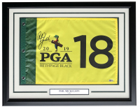 "Phil Mickelson Signed ""2019 PGA Tour"" 21x27 Custom Framed Golf Pin Flag Display (Beckett COA) at PristineAuction.com"